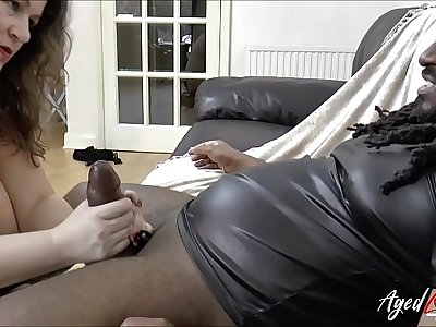 AgedLovE Mature Enjoying Big black cock in Jaws and Pussy
