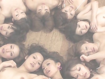 Wet Hot Ten Girl Orgy (Uncensored JAV)