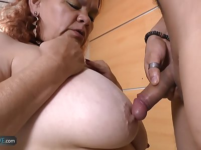 AgedLove BBW Latina Granny fucks with boy
