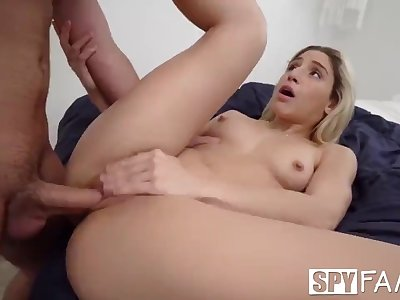 SPYFAM Step Daughter Abella Danger Gets Her Big Dick Dying WISH