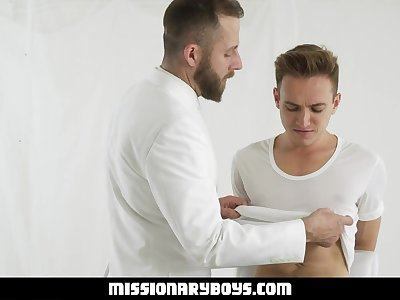 missionaryboyz - stern priest plows a sexy twink boy