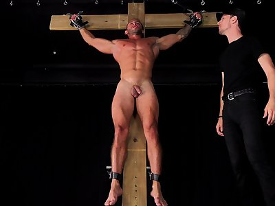 HOT Latin Muscle Jock Submits To BDSM Punishment