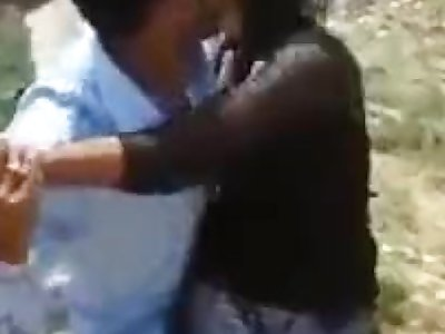 Desi Girl Smooched in Public by Beau