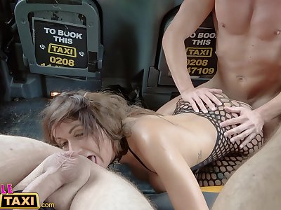 Chick Fake Taxi Two guys give Princess Jas loud orgasms