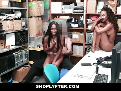 ShopLyfter - Hot Black Nubile Thieves Fucked By Guard