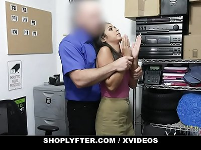 ShopLyfter - Nervous Latina Caught Stealing Is Forced To Fuck