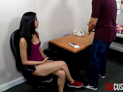 Hardcore Customs - Sophia Leone Stripped and Humiliated by Horny Officer