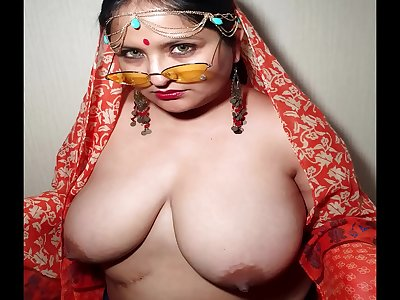Indian XL gal - Namaste and jizz swallow