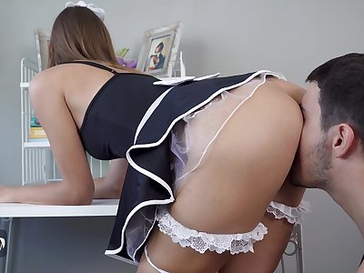 Marvelous Maid Gets Creampied By Boss While Working