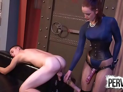 English Stepmom Keeps Stepson in Dungeon to Fuck His Butt
