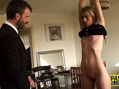 Tied up subjugated milf
